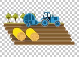 农民卡通,黄色,轮胎,家畜,生态农业,农地,机器,绘图,农民,场,拖拉图片