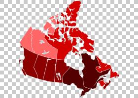 共和国日旗帜,花,红色,加拿大地图集,空白地图,加拿大国旗日,地理图片