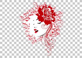 爱黑白,视觉艺术,黑白,线路,玫瑰家族,美,女人,头部,微笑,文本,花