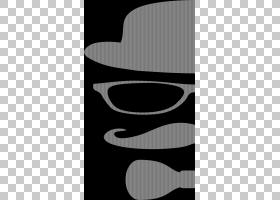 顶帽卡通,黑白,线路,徽标,牛仔帽,头盔,软呢帽,剪影,眼镜,伪装,太