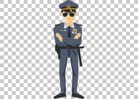 警察卡通,酷,卡通,眼镜,安全,专业,统一,眼镜,职业,官方,绅士,站