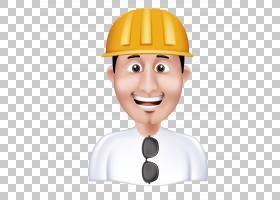 工程师卡通,男性,专业,鼻子,脸,脸颊,男孩,线路,烹饪,头盔,头部,