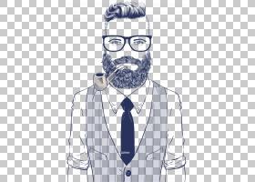 发型,眼镜,小胡子,男性,专业,颈部,酷,黑白,男人,眼镜,绅士,肖像,