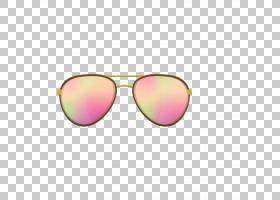 太阳镜剪贴画,洋红色,黄色,眼镜,粉色,服装,粉红色,Rayban Clubma
