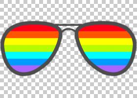 卡通太阳镜,线路,文本,黄色,蓝色,眼镜,眼睛,编辑,贴花,图像编辑,