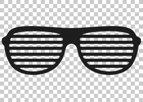 卡通太阳镜,黑白,线路,眼镜,符号,文本,快门,雷班,眼镜,飞行员太