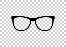 卡通太阳镜,黑白,线路,矩形,黑色,护目镜,眼镜,褐线眼镜,时尚,眼