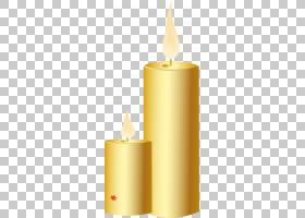 黄色背景,无焰蜡烛,照明,卡通,蜡,绘图,烛台,无焰蜡烛,黄色,灯光,