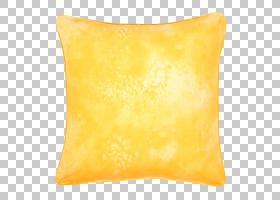 黄色背景,橙色,材质,黄色,矩形,枕头,垫子,扔枕头,