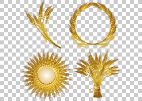 金色徽标,商品,花,小麦,裁剪,徽标,黄金,谷类,耳朵,普通小麦,