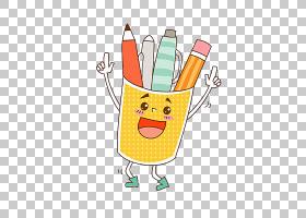 铅笔剪贴画,线路,黄色,材质,食物,面积,容器,卡通,铅笔,刷子罐,笔