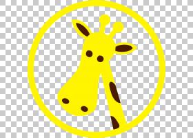 长颈鹿卡通,线路,面积,长颈鹿,演示文稿,黄色,卡通,长颈鹿,
