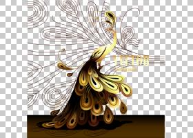 黄花,飞蛾与蝴蝶,昆虫,黄色,传粉者,花,蝴蝶,亚洲孔雀,羽毛,卡通,