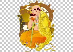黄花,食物,花,卡通,黄色,涅��,成佛,Bhava,佛教,罗汉,十八罗汉,