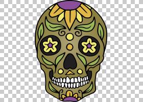 骷髅墨西哥Cinco de Mayo,花,黄色,Cinco de Mayo,墨西哥,头骨,