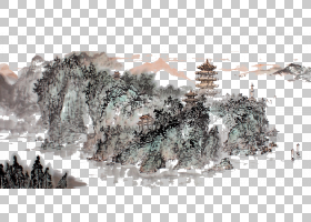 冬树,矿物,冬天,树,中国,书法,绘画,山水,湖北,岳阳,水墨画,中国