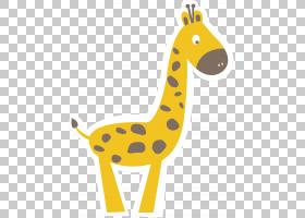 动物卡通,线路,黄色,动物形象,长颈鹿,动物,长颈鹿,颈部,艺术品,图片
