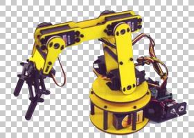 工程卡通,黄色,硬件,技术,RobotShop,自由度,铰接式机器人,自动控