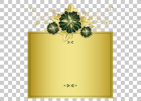 花卉设计金,矩形,花卉设计,花,黄色,植物群,植物,相框,黄金,像素,