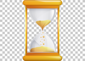 卡通钟,测量仪器,免费,时钟,沙子,黄色,时间,沙漏,
