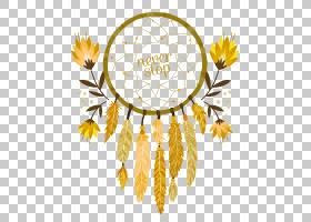 水彩花卉背景,花卉设计,切花,分支,花,黄色,树,花瓣,蒲公英,向日