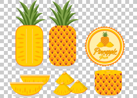 水果卡通,橙色,水果,Ananas,食物,商品,素食,植物,Auglis,CDR,形