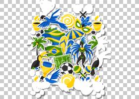 花线,线路,分支,花,黄色,植物,传粉者,植物群,球,巴西,巴西嘉年华