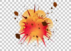 花线艺术,圆,花瓣,线路,花,黄色,橙色,红色,炸药,核爆炸,TNT,爆炸