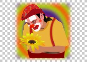 红花,红色,幸福,微笑,鼻子,黄色,花瓣,向日葵,花,喜剧,喜剧演员,