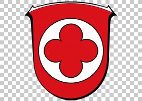 花圈,圆,符号,面积,花,红色,德国,黑塞,Waldeckfrankenberg,脉轮,