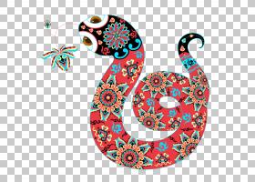 春节红色背景,圆,视觉艺术,剪纸,主题,卡通,中国十二生肖,中国新