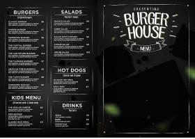 西餐厅菜单设计图片