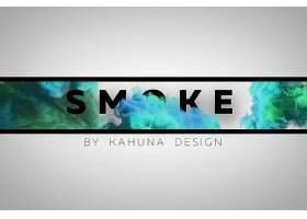 彩色云烟水彩融合元素主题海报背景设计图片