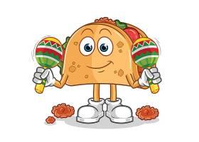 可爱的卡通汉堡形象人物插画设计