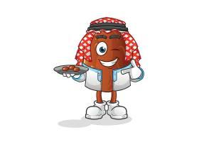 可爱的卡通巧克力豆形象人物插画设计
