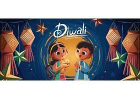 印度兄妹节主题节日装饰插画设计