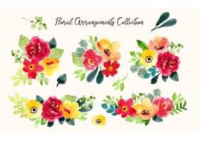 清新手绘植物叶子花卉无缝装饰背景