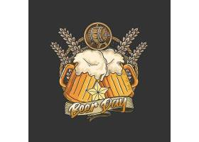啤酒主题时尚个性T恤印花图案设计