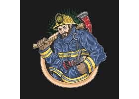消防人员主题时尚个性T恤印花图案设计