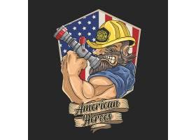 美国特种兵主题时尚个性T恤印花图案设计