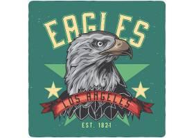 老鹰主题时尚个性T恤印花图案设计