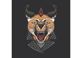 猫咪头像主题时尚个性T恤印花图案设计