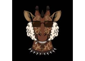 长颈鹿主题时尚个性T恤印花图案设计