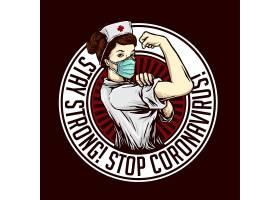 女护士主题时尚个性T恤印花图案设计