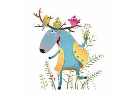 唯美美式漫画童话故事动物形象插画设计