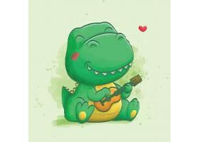 清新手绘水彩卡通鳄鱼动物形象插画设计