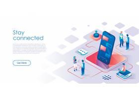 互联网信息技术与商务办公主题扁平化插画设计图片