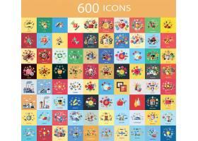 600款通用实用主题个性简洁UI图标设计