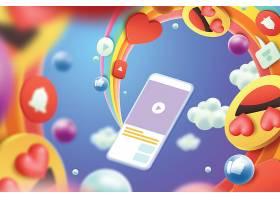 3D互联网电商主题矢量装饰背景