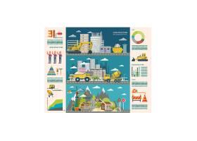 建筑与施工主题信息图表装饰插画